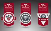 Set of wine labels. Vector