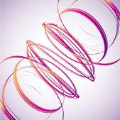 abstraktní pozadí růžové vlny. vektor