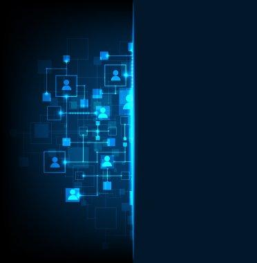 Social media light vector background