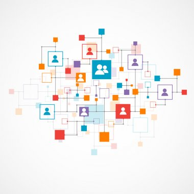 Social media vector background