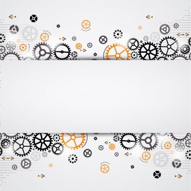 Abstract technology background. Cog wheel theme stock vector