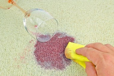 Cleaning Wine Stain from a Carpet