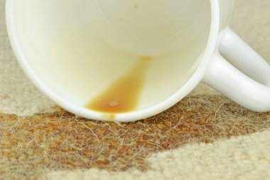 Spilled Coffee on a Carpet