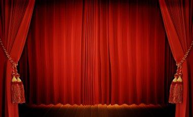 Theatrical curtai