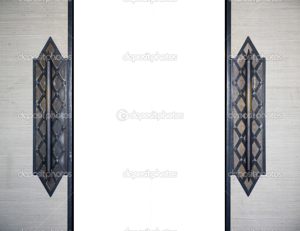 Detail of Wood traditional Thai Door u2014 Photo by Kris & traditional Thai Door u2014 Stock Photo © Kris #25396809