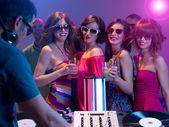 Fotografie Mädchen Abend auf einer party