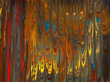 flowing colorful mixed paint on canvas