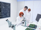 Students chemistry lab analysis