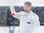 Fotografie Researcheranalyzing substances