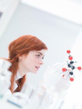 citric acid molecular model analysis