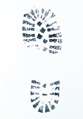 image of a right boot print