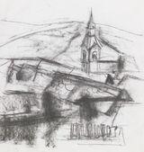 Fotografia disegno a mano libera del villaggio