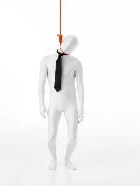 businessman hanged