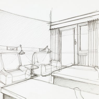 detail of hotel room
