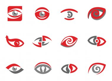 Set of eye emblems