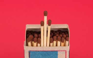 box of matches.