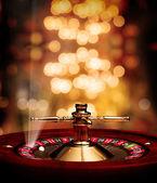Fotografie kasino ruleta podbarvovala plakát s paprsky