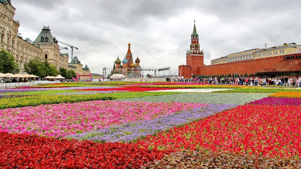 Выставка цветов на красной площади сегодня