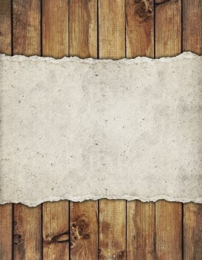 Old paper on the wood background stock vector