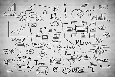 Business sketches background