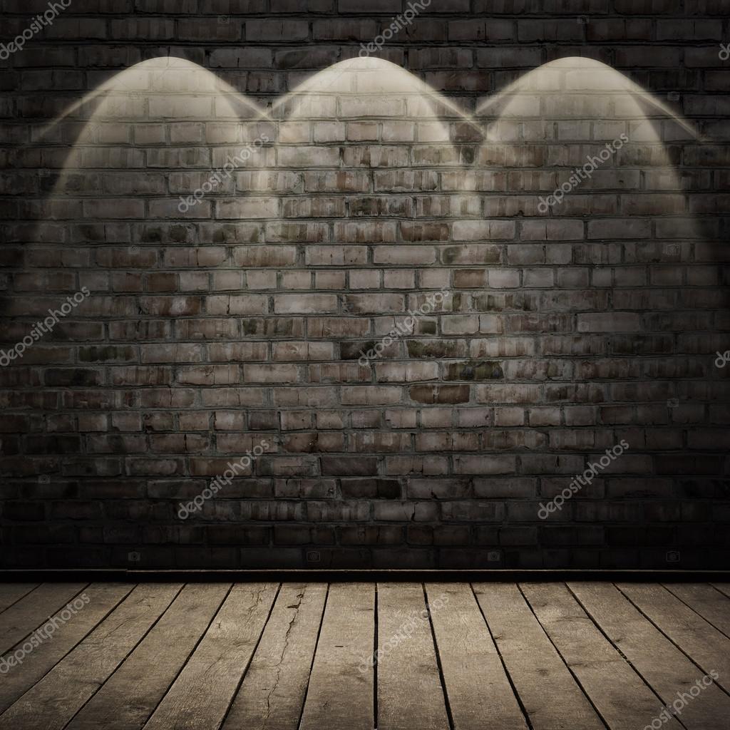 Cuarto oscuro con piso de madera y pared de ladrillo for Esteban paredes wallpaper hd