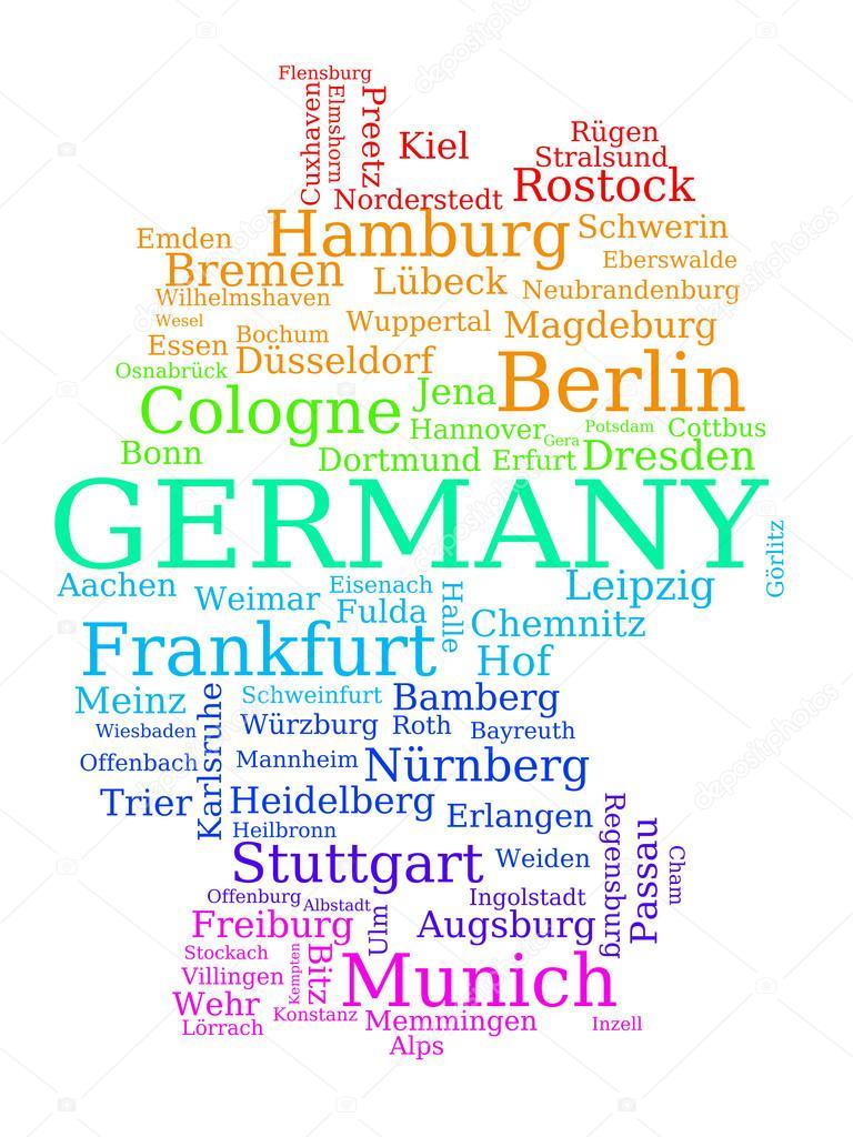 Germany Map Stock Vector C Tupungato 19870705
