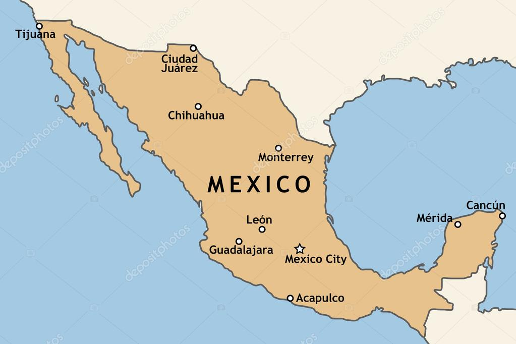 Map Of Mexico Stock Vector C Tupungato 19872261