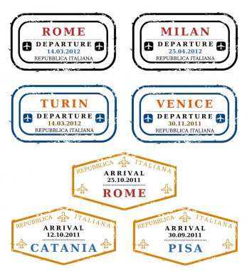 Vector stamps - Italy