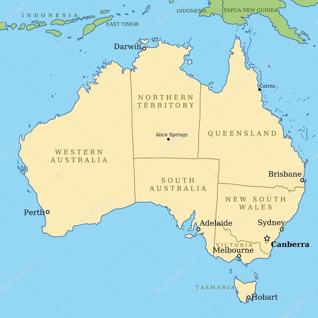 Karta Australien Adelaide.Australien Stock Vektor C Tupungato 21835619