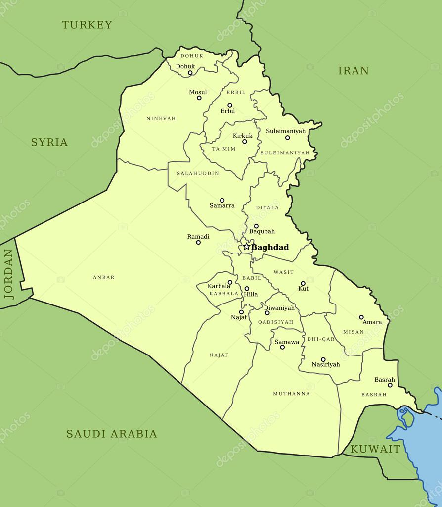 Map Of Iraq Stock Vector C Tupungato 30146187