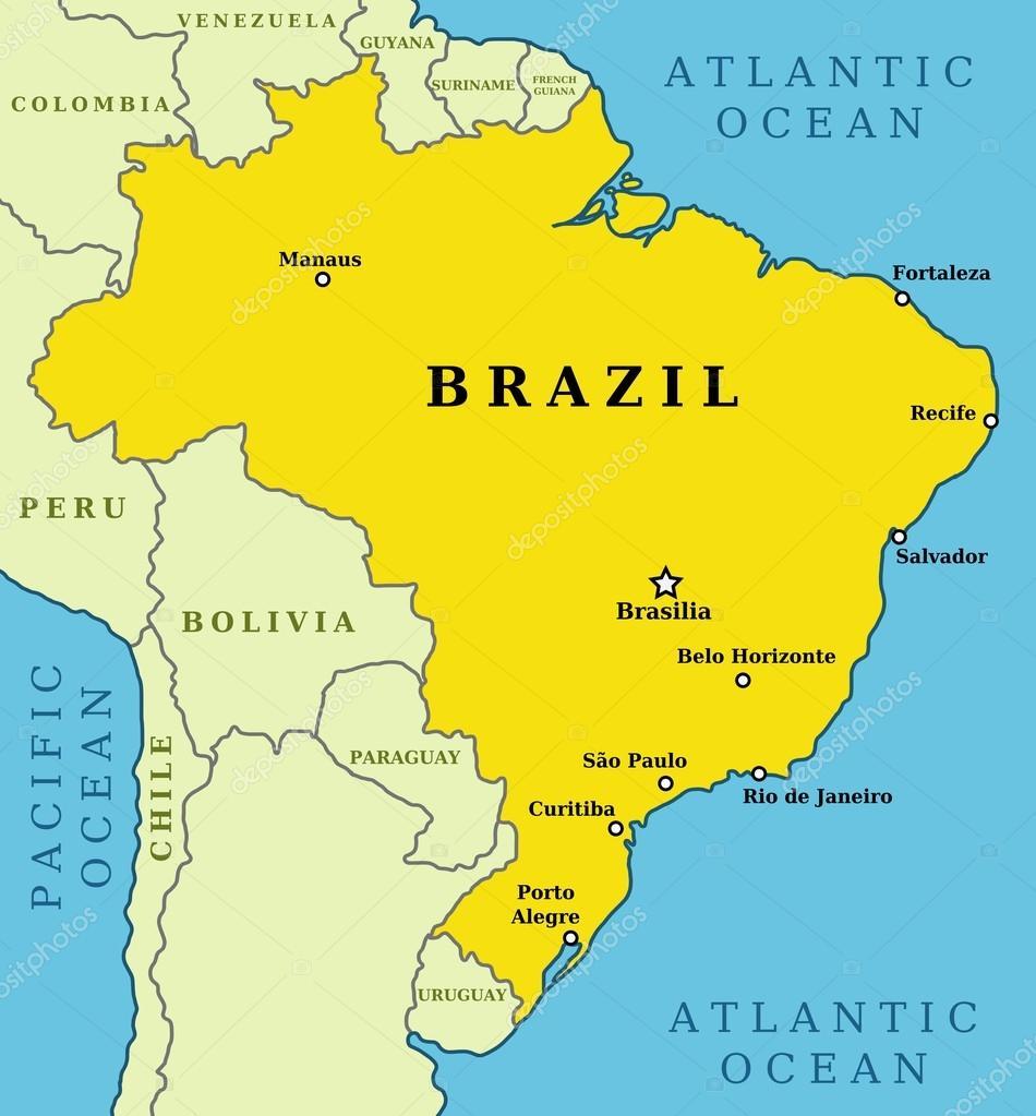 Map of Brazil Stock Vector tupungato 30272213