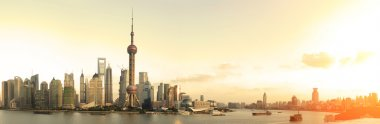 Shanghai's modern architecture cityscape panoramic photo skyline