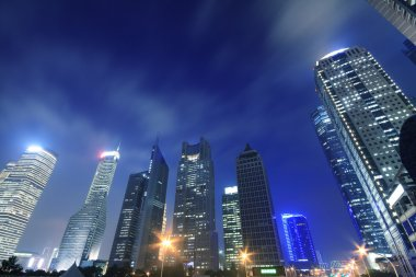 Shanghai modern city night backgrounds