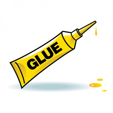 Glue yellow tube