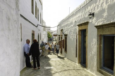 street scene in Skala, Greece