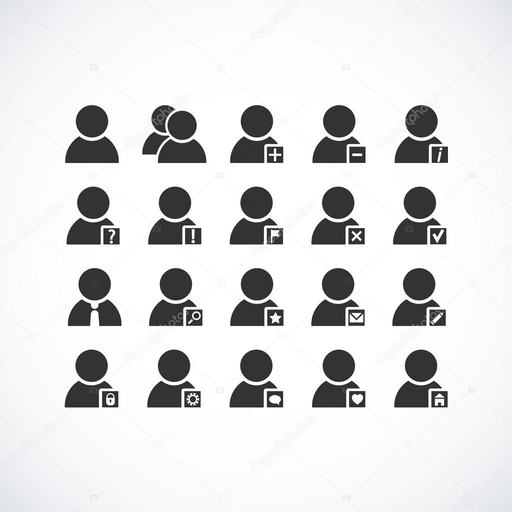 User icons set