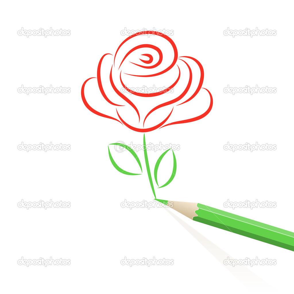 Hand drawn rose Stock Vector bellenixe 18309285