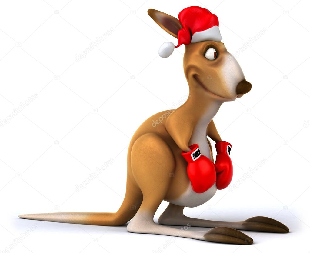 Christmas Kangaroo Cartoon.Christmas Kangaroo Boxer Stock Photo C Julos 15435501