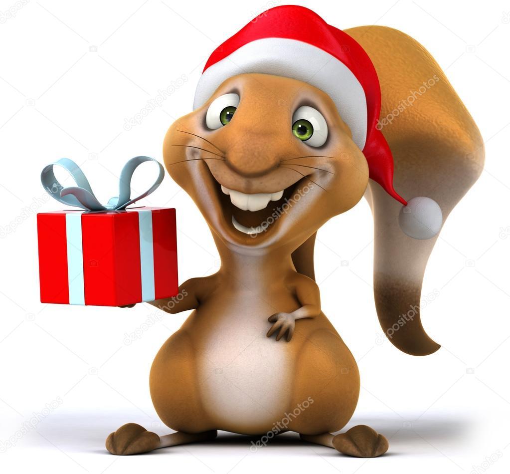 Weihnachten-Eichhörnchen — Stockfoto © julos #32570335