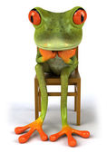 Thoughtful frog