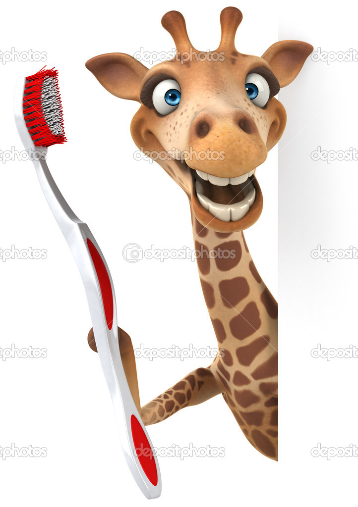fun giraffe with toothbrush stock photo  u00a9 julos 50456277 Dental Toothbrush Clip Art Free free to download clipart toothbrush