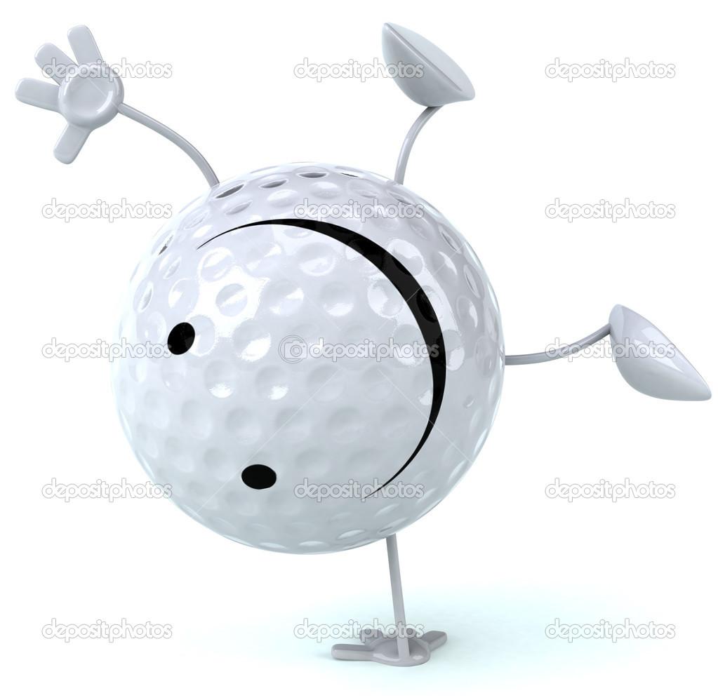 happy golf ball u2014 stock photo julos 51062017