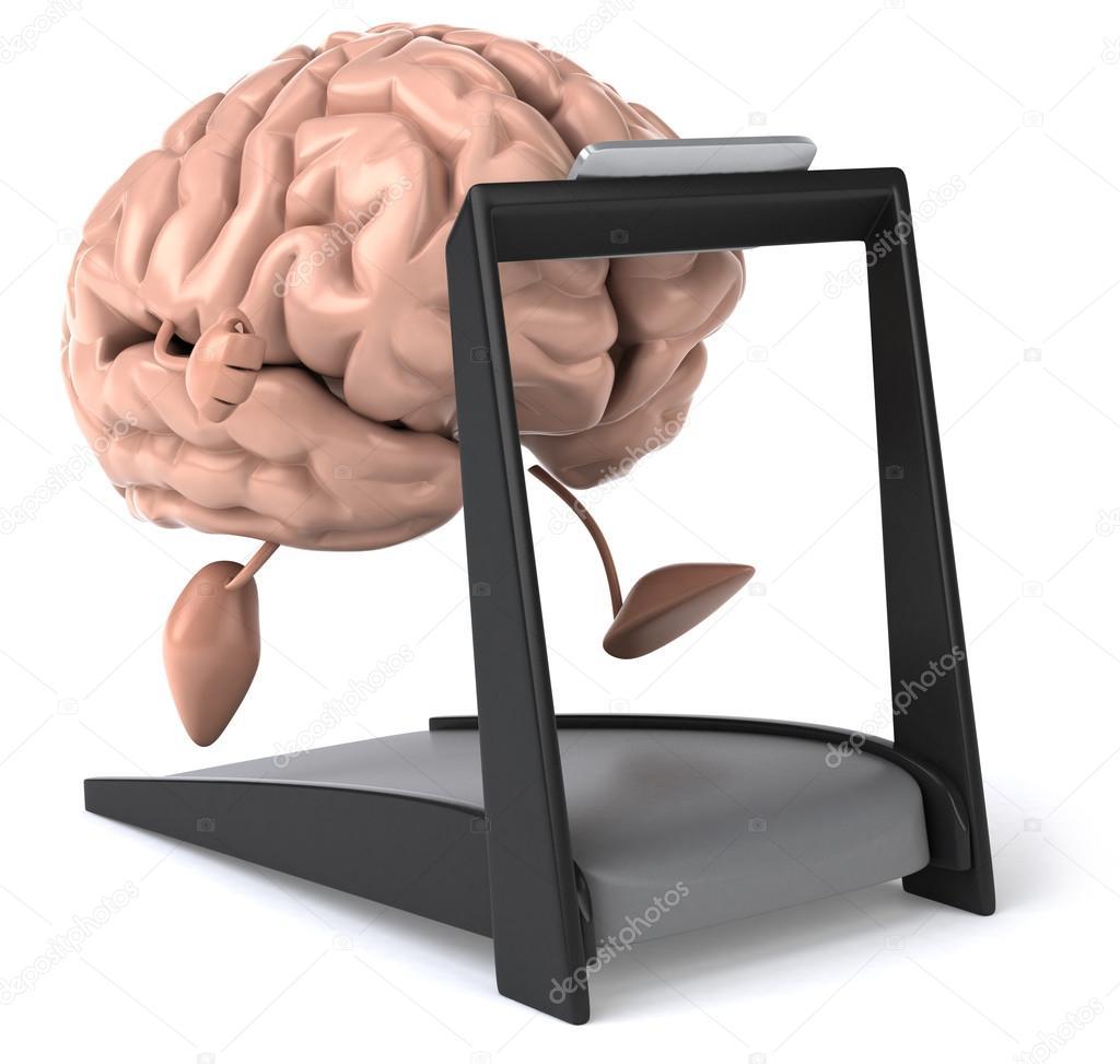 Kul hjärnan på löpband — stockfoto