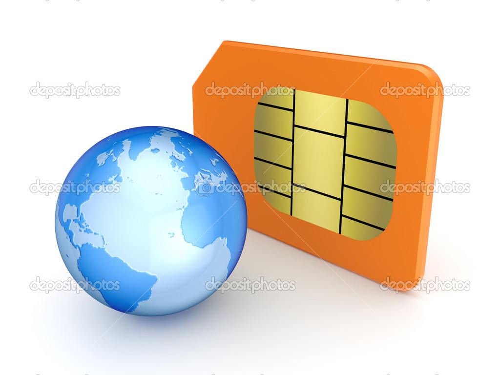 Sim Karta A Globus Stock Fotografie C Rukanoga 13553662