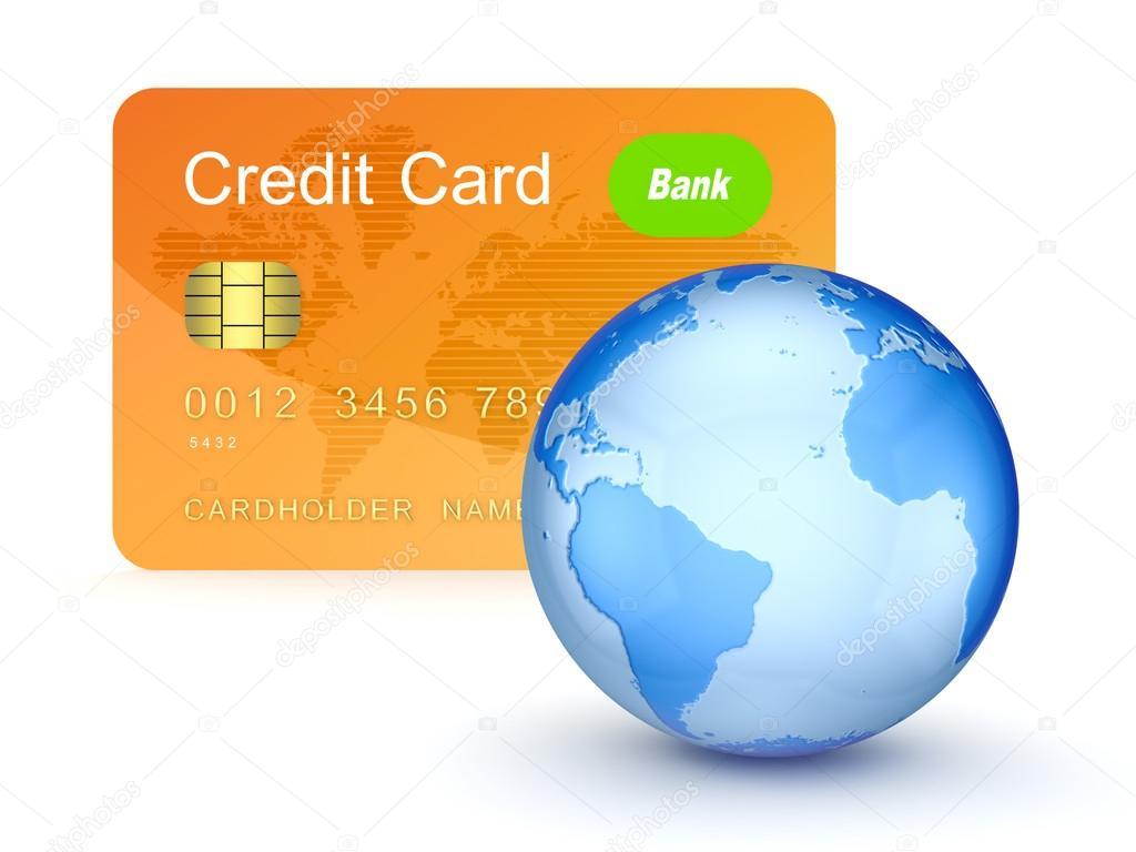 Kreditni Karta A Globus Stock Fotografie C Rukanoga 13605982