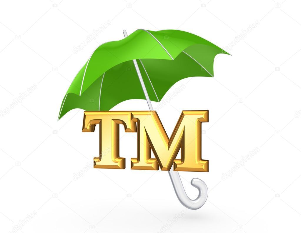 Tm symbol under green umbrella stock photo rukanoga 26734235 tm symbol under green umbrellaolated on white3d rendered photo by rukanoga buycottarizona