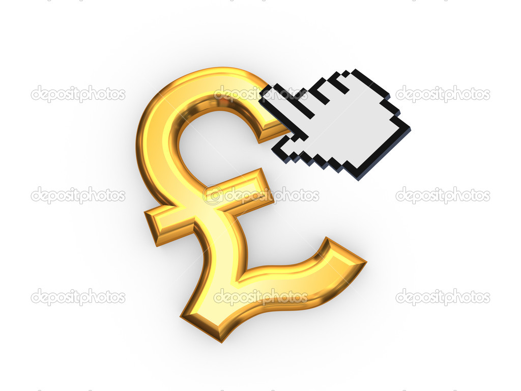 Cursor and symbol of pound sterling stock photo rukanoga cursor and symbol of pound sterlingolated on white3d rendered photo by rukanoga buycottarizona