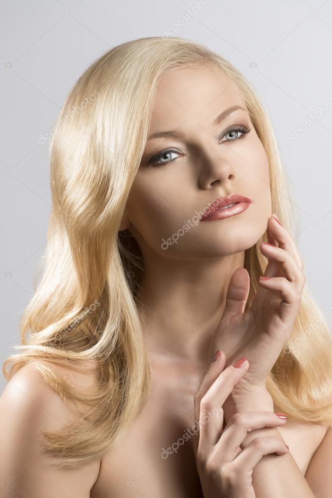 Pretty Blonde Teen Girl Stock Image Image Of Outside: Beauty Portrait Of Pretty Blonde Girl With Hand Near The