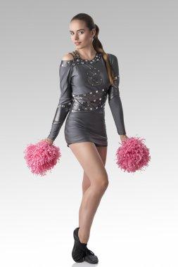 sexy cheerleader with bent leg