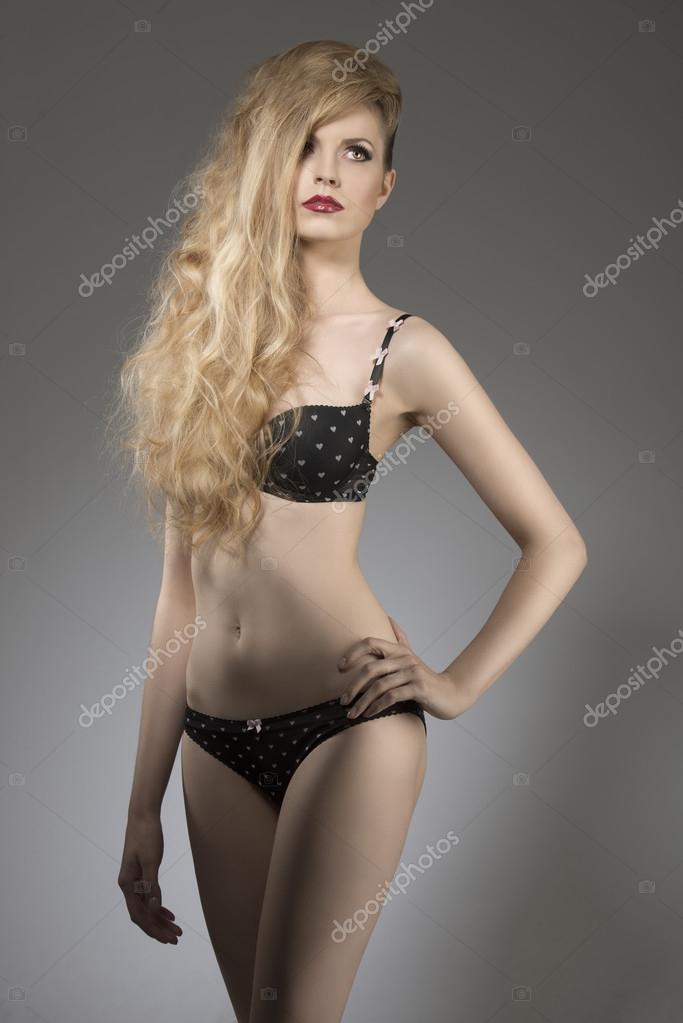 3a0b764876 splendid woman in lingerie — Stock Photo © carlodapino  37902577